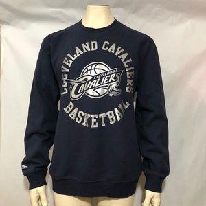 Mitchell & Ness Men XL Blue Cleveland Cavs Sweater